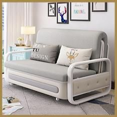 Giường Sofa gấp gọn đa năng, Sofa Giường thông minh, khung hợp kim cao cấp, có ngăn chứa đồ (tặng kèm 2 gối) KT:120x190cm