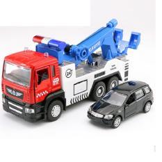 Xe cứu hộ đồ chơi trẻ em xe chạy cót có âm thanh động cơ và đèn mở cửa xe