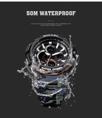 Đồng hồ thể thao nam chống nước cao cấp phong cách lính USA Smael 176808 Camo Army Green Bảo Hành 12 tháng