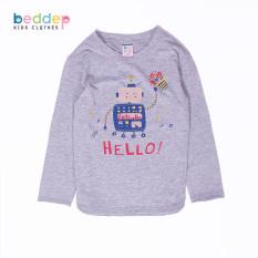 Áo thun trơn dài tay Beddep Kids Clothes cho bé trai từ 1 đến 8 tuổi B02