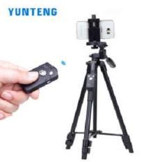 Tripod, chân máy ảnh và điện thoại YUNTENG VCT5208 (Kèm Rempte Bluetooth, Kẹp Điện thoại, Túi) – Phân phối bởi Android World