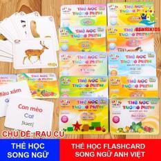 Bộ Thẻ Học Thông Minh Flashcards Song Ngữ Loại To Cho Bé,Thẻ Học Thông Minh,Bộ Thẻ Học(Nhiều Chủ Đề Chủ Đề)