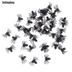 Jettingbuy 50 Chiếc Nhỏ Bằng Nhựa Đen Giả Nhện Đồ Chơi Halloween Hài Hước Joke Prank Đạo Cụ