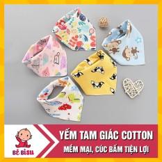 Set 10 Khăn Yếm Tam Giác 100% cotton mềm mịn