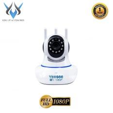 Camera IP Wifi Yoosee 3 Râu 2.0M FullHD 1080P 10 đèn hồng ngoại đàm thoại 2 chiều (Trắng) – Phụ Kiện 1986