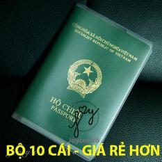 Combo 10 cái vỏ bao hộ chiếu (passport) dẻo trong có khe đựng vé máy baay và các loại thẻ Joycee Vo 10B132