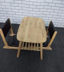 Bàn trà/sofa 2 tầng chân xếp gọn 90x50x43cm bằng gỗ (Tự nhiên)