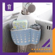 Giỏ đựng giỏ treo giẻ rửa bát, rửa chén có quai treo tiện dụng – JY189, màu Xanh ngọc [Hàng cao cấp]