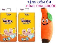 [Tặng 1 gối bông hình trái chuối] Combo 2 gói Tã dán Unidry M42 (bé 6-11kg)