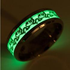 Nhẫn nam nhẫn titan nam khắc rồng dragon dạ quang phát sáng trong đêm