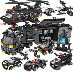 [550 CHI TIẾT] Bộ Đồ Chơi Xếp Hình Lego Chiến Hạm, Lego Xe Swat, Lego Tàu Chiến, Lego Xe Oto, Lego Robot