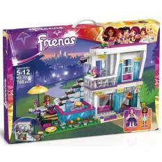 Bộ lắp ráp kiểu lego style friends – Biệt thự 2 tầng của ngôi sao nhạc pop Livi