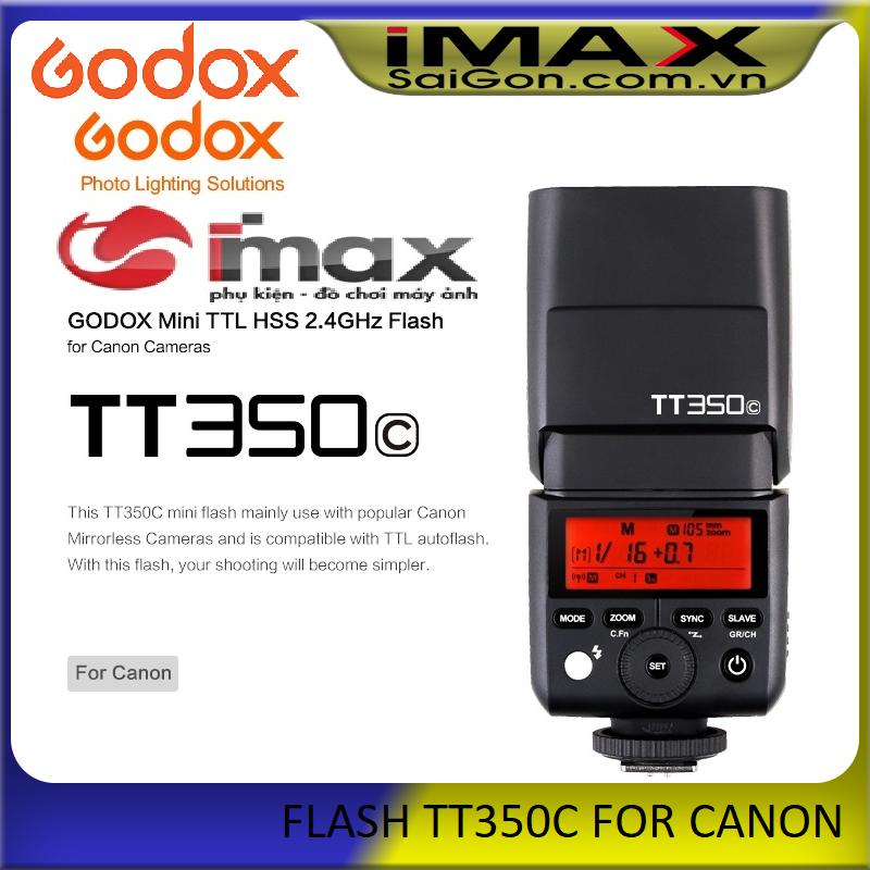 Đèn Flash Godox TT350C cho Canon, Chính hãng
