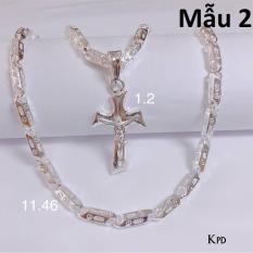 Bộ dây chuyền bạc mặt thánh giá cho nam mẫu 2