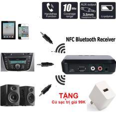 Thiết Bị Nhận Bluetooth Cho Loa Và Amply BL-B10 NFC – Desktop Bluetooth Receiver + TẶNG kèm củ sậc điện thoại chất lượng cao