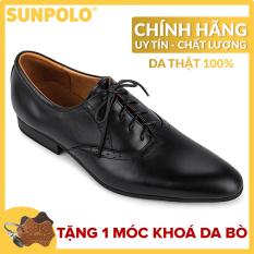 Giày Tây Nam Da Bò SUNPOLO KS5572D (Đen)