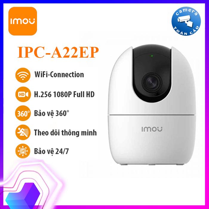 [NHÀ PHÂN PHỐI] Camera IP WIFI IMOU IPC-A22EP ( 2.0MP ) -Camera giám sát an ninh không dây – Camera Toàn Cầu