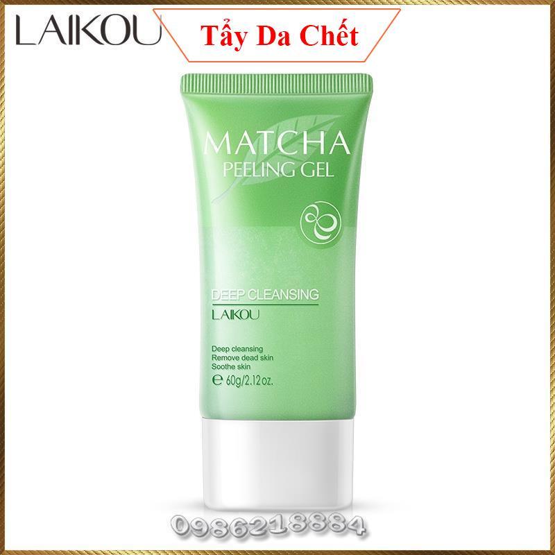 Gel tẩy da chết Trà Xanh Laikou Matcha Peeling Gel dưỡng ẩm sáng da và làm sạch sâu LMG5