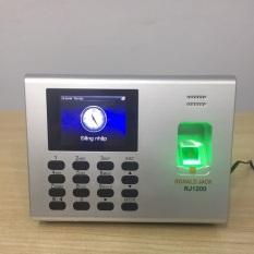 Máy chấm công vân tay + vân tay + pin lưu điện Ronal Jack RJ1200