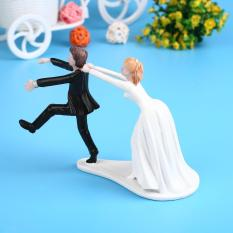 Synthetic Resin Bride&Groom Cake Topper Wedding Party Decoration Figurine Craft