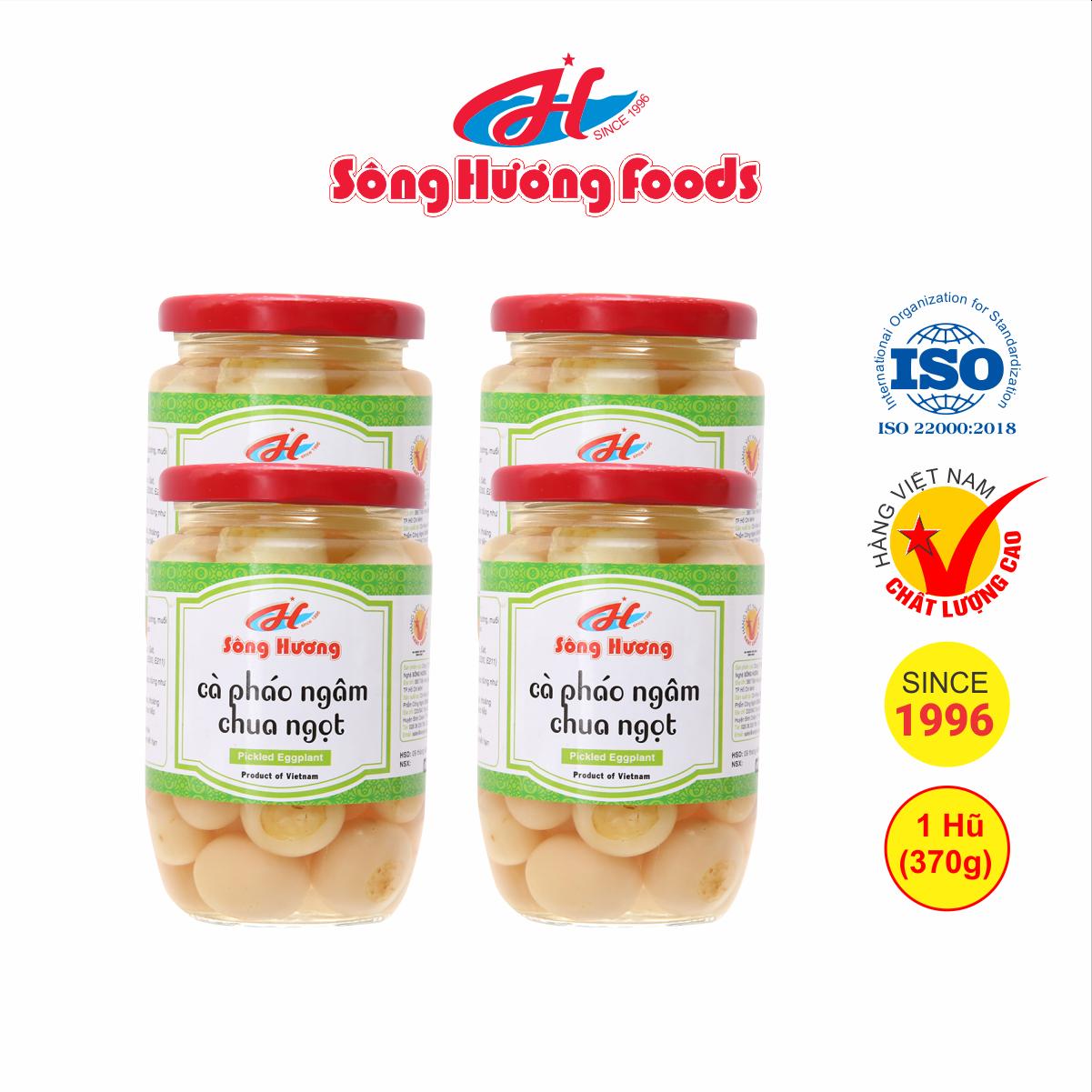 4 Hũ cà pháo muối ngâm chua ngọt Sông Hương Foods hũ 370g, cam kết hàng chính hãng 100%, đảm bảo chất lượng sản phẩm, hàng hóa luôn có sẵn, giao hàng nhanh nội và ngoài TPHCM