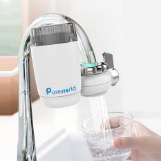 Đầu lọc tại vòi Pureworld Model C1 lõi lọc sứ 1 lõi lọc bộ lọc tại vòi sử dụng trong phòng bếp và phòng tắm loại bỏ Clo dư trong nước lọc nước tại vòi