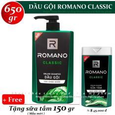 Romano – Dầu gội hương nước hoa Classic 650 gr + Tặng Sữa tắm 150 gr