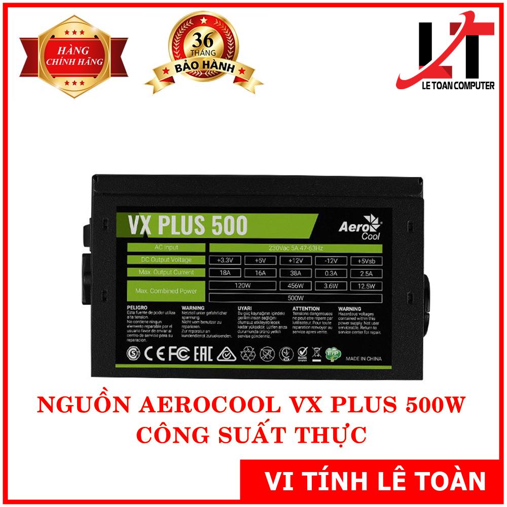 Nguồn Aerocool VX Plus 500W – Hàng Chính Hãng
