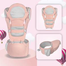 [ĐƯỢC CHỌN MÀU- ĐỊU ĐA TƯ THẾ] Địu em bé có đỡ đầu, có bệ (ghế) ngồi giúp chống đau mỏi cơ cho bé, đai điệu trẻ em đa chức năng cao cấp – HĐ1