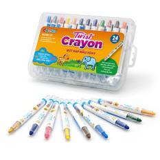 Bút Sáp Màu Xoay Twist Crayon 24 Màu – Hộp Nhựa PP – Duka