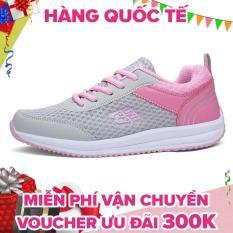 Giày nữ thể thao dùng để chạy bộ thoáng khí và êm chân