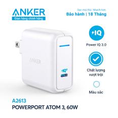 Sạc ANKER PowerPort Atom III 1 cổng PIQ 3.0 60W – A2613