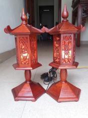 đồ thờ-đèn gỗ hương cao 50cmx15cm
