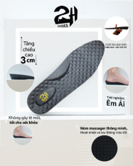 Lót giày tăng chiều cao 3cm nguyên khối siêu nhẹ và không sụt lún, hạt matxa chân bảo vệ sức khỏe SHOES 2H foot -L04