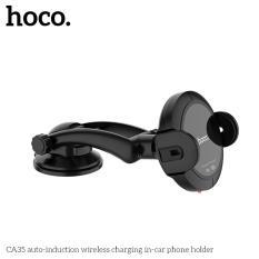 Sạc không dây trên ô tô chuẩn Qi cảm biến thông minh tự động giữ điện thoại thương hiệu Hoco CA35 phù hợp cho iphone 8, phone x iphone xs, iphone xs max, iphone xr, Samsung galaxy note8, note 9, s8,s9, s10