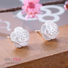 {Siêu rẻ} Bông tai khuyên tai nữ bạc nhỏ xinh hot trend Hàn Quốc dễ thương sang trọng