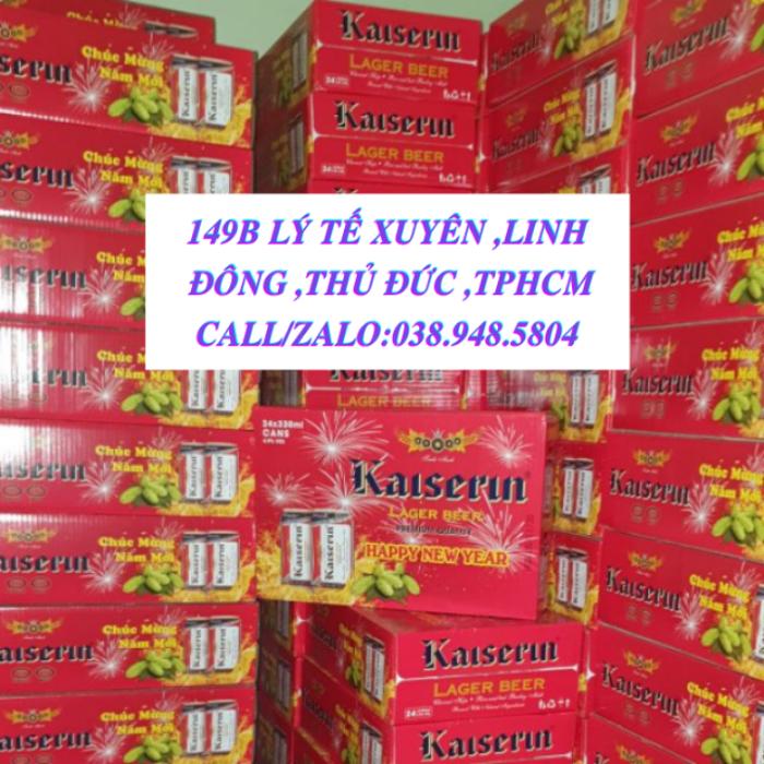 Bia Đức Kaiserin Lager (Vàng) -Thùng Xuân 24 lon -HSD;Tháng 1 năm 2022