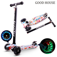 Xe trượt Scooter, Xe trượt phát sáng – cho bé từ 3 – 8 tuổi tải trọng 100kg có 3 bánh X04 (có loại bánh không phát sáng)