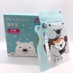 [Lấy mã giảm thêm 30%]Hộp 50 túi zip trữ sữa sami hình gấu dung tích 250ml đã được tiệt trùng đảm bảo vệ sinh và an toàn cho bé