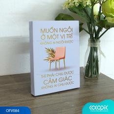 Tranh để bàn canvas slogan tạo động lực trang trí văn phòng Cocopic OFV083 – OFV102 20 mẫu tùy chọn