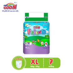 Tã quần Goo.N Friend regular XL7 (7 miếng) dành cho bé từ 12 -17 kg – Giới hạn 2 sản phẩm/khách hàng