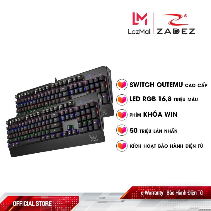 BÀN PHÍM CƠ CAO CẤP ZADEZ GT-03K (RGB) 2020