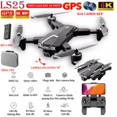 (NEW 2020) – TẶNG TÚI ĐỰNG – Flycam mini 6K, Flycam LSRC LS25 Camera 6K, Định vị GPS – WIFI 5G truyền ảnh trực tiếp về điện thoại, thời gian bay 20 phút,chế độ bay không đầu – nhào lộn 360° độ -camera lên xuống 90° – BH 3 THÁNG