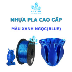 Nhựa PLA in 3D, mực in 3D xanh ngọc shappire blue.