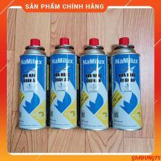 4 Lon Gas Mini Du Lịch Namilux 250g/lon Hàng Nguyên Đai, Vỏ Bình Chắc Chắn Đảm Bảo An Toàn Khi Sử Dụng