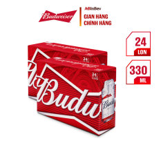 Combo 2 Thùng 24 Lon Bia Budweiser (330ml/lon)