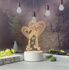 Tâm House Đèn ngủ trang trí LED 3D – D003