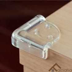 Set 4 bịt góc cạnh bàn silicon bảo vệ an toàn cho bé tặng kèm băng keo