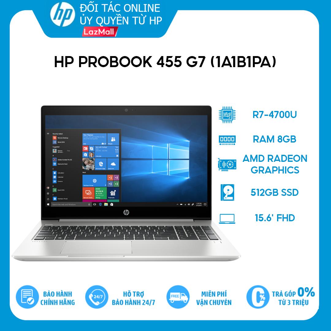 [VOUCHER 3 TRIỆU] Laptop HP ProBook 455 G7 1A1B1PA R7-4700U | 8GB | 512GB | 15.6″ FHD | Win 10