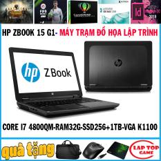 HP Zbook 15 G1-Khủng Đồ Họa core i7-4800MQ, ram 32g, SSD256g + 1tb, VGA Quadro K1100M, màn 15.6 Full HD) DÒNG MÁY TRẠM SIÊU ĐỒ HỌA 3D MAX